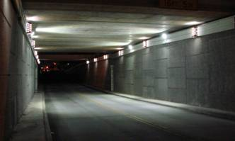 Roadway Underpass with LED Lighting
